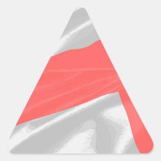 Silk Flag of Saint George Triangle Sticker