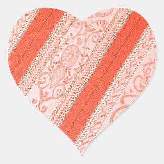 Silk Heart Sticker