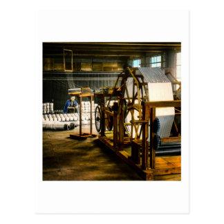 Silk Mill of Old Japan Making Kimonos Vintage Postcard