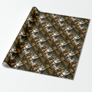 Silk Mill of Old Japan Making Kimonos Vintage Wrapping Paper