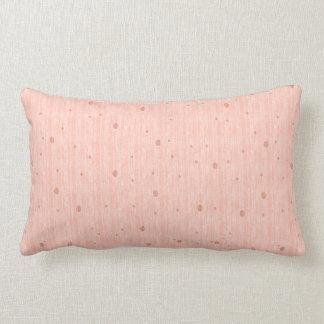 Silk Monotone - Peach (Throw Pillow) Lumbar Cushion