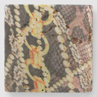 Silk, Pearls and Chains Print Stone Beverage Coaster