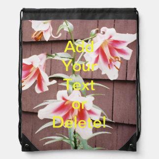 Silk Road Lily Drawstring Backpacks