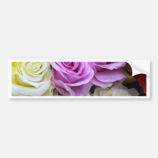 silk roses bumper sticker