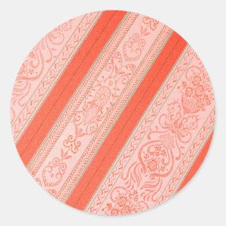 Silk Round Sticker