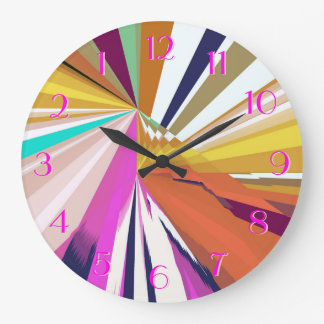 Silk Scarves Look Backwards Clock Multi-Color