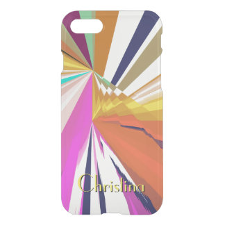 Silk Scarves Look Exciting Abstract with Your Text iPhone 8/7 Case