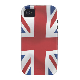 Silk style Union Jack British Flag iPhone 4 Covers