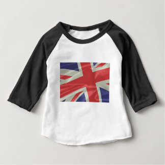 Silk Union Jack Flag Closeup Baby T-Shirt