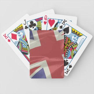 Silk Union Jack Flag Closeup Bicycle Playing Cards