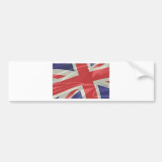 Silk Union Jack Flag Closeup Bumper Sticker