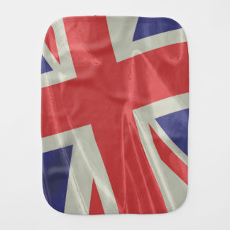 Silk Union Jack Flag Closeup Burp Cloth