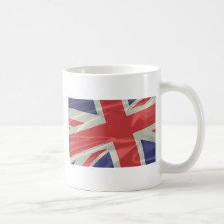 Silk Union Jack Flag Closeup Coffee Mug