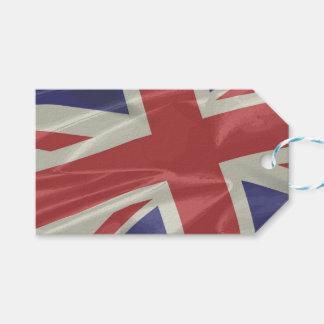 Silk Union Jack Flag Closeup Gift Tags