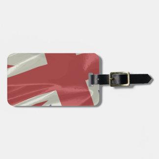 Silk Union Jack Flag Closeup Luggage Tag