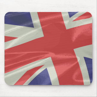 Silk Union Jack Flag Closeup Mouse Pad