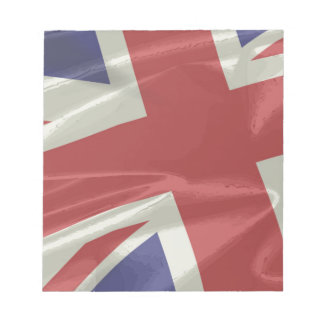 Silk Union Jack Flag Closeup Notepad