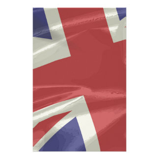 Silk Union Jack Flag Closeup Stationery
