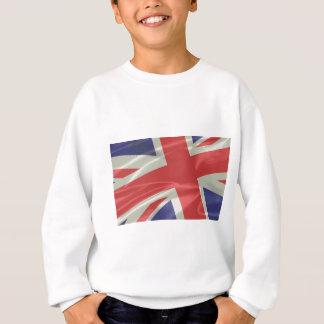 Silk Union Jack Flag Closeup Sweatshirt