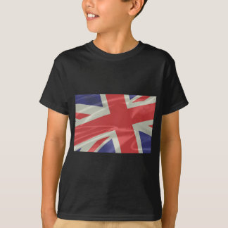Silk Union Jack Flag Closeup T-Shirt