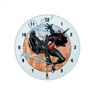 Silk Webslinging Round Clock