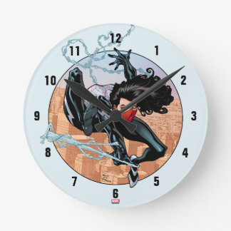 Silk Webslinging Wallclocks