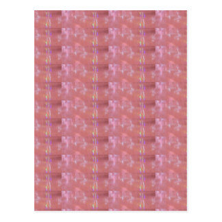 SILKEN Pink Weave Graphic Pattern Postcard