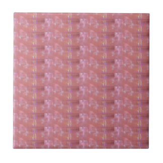 SILKEN Pink Weave Graphic Pattern Small Square Tile