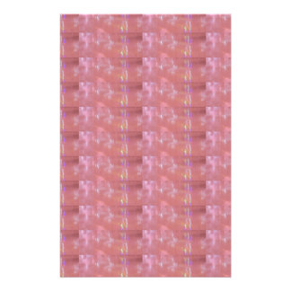 SILKEN Pink Weave Graphic Pattern Personalized Stationery
