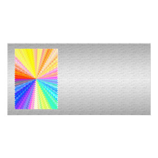 Silken Silver Base n Art101 Graphic Rainbow Spark Personalised Photo Card