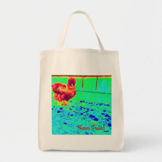 Silkie chicken farm grocery bag