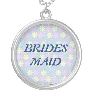 Silktones Millefiori BRIDAL Round Pendant Necklace