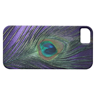 Silky Purple Peacock Feather iPhone 5 Covers