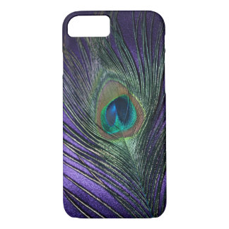 Silky Purple Peacock Feather iPhone 7 Case