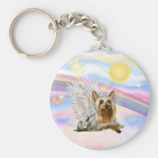 Silky Terrier Basic Round Button Key Ring