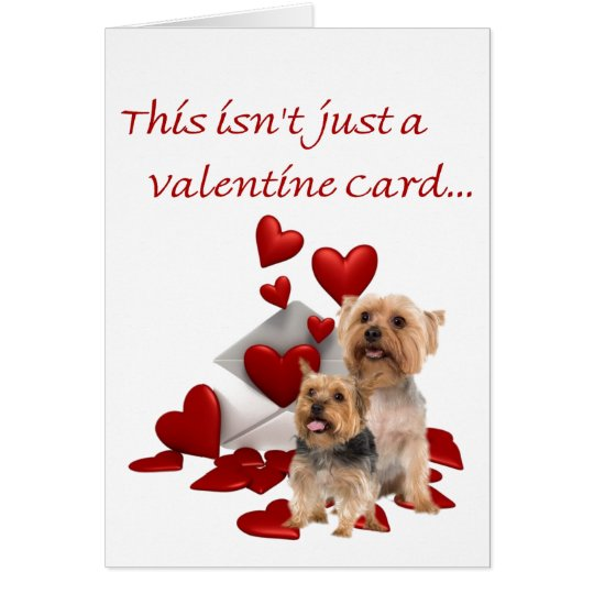 Silky Terrier Be Our Valentine Card