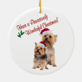 Silky Terrier Christmas Hugs and Kisses Ornament