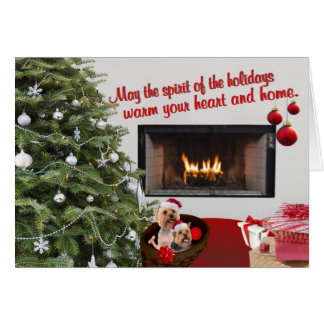Silky Terrier Christmas Warm Wishes Greeting Card