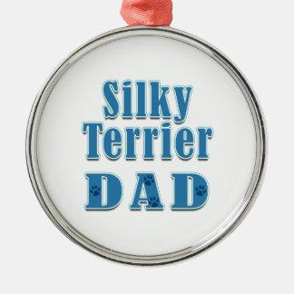 Silky Terrier Dad Metal Ornament