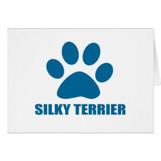 SILKY TERRIER DOG DESIGNS CARD