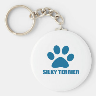 SILKY TERRIER DOG DESIGNS KEY RING