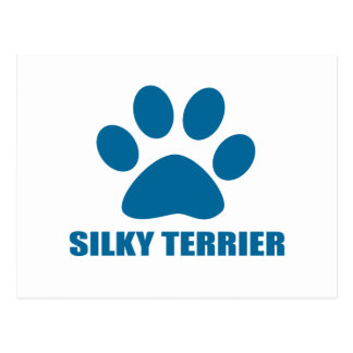 SILKY TERRIER DOG DESIGNS POSTCARD