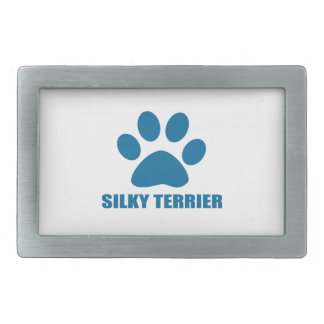 SILKY TERRIER DOG DESIGNS RECTANGULAR BELT BUCKLE