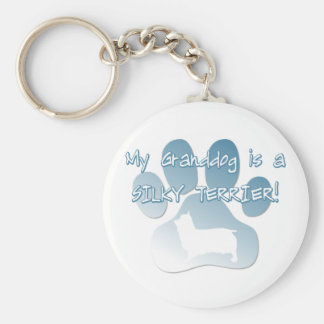 Silky Terrier Granddog Key Ring