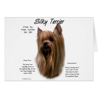 Silky Terrier History Design Card