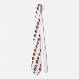 Silky Terrier Santa Paws Tie