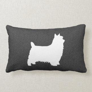 Silky Terrier Silhouette Lumbar Cushion