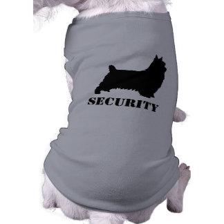 Silky Terrier Silhouette Security Sleeveless Dog Shirt