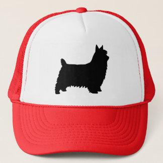 Silky Terrier Silhouette Trucker Hat