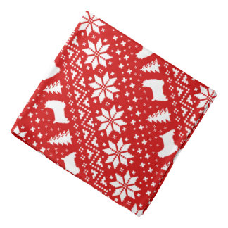 Silky Terrier Silhouettes Christmas Pattern Bandana